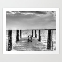 Pier Black & White Art Print