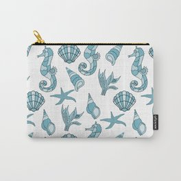 Seahorses Starfish & Shells Carry-All Pouch