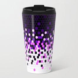 Flat Tech Camouflage Reverse Purple Travel Mug
