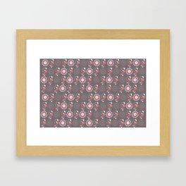 Mandalas design with a fly Framed Art Print