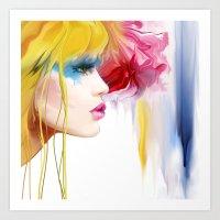 makeup Art Prints featuring makeup by tatiana-teni