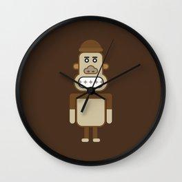 Monkey Robot Geometric Art Wall Clock