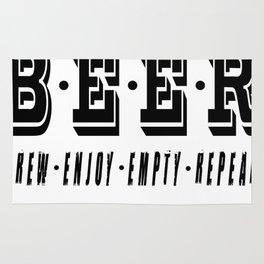 b.e.e.r   - I love beer Rug