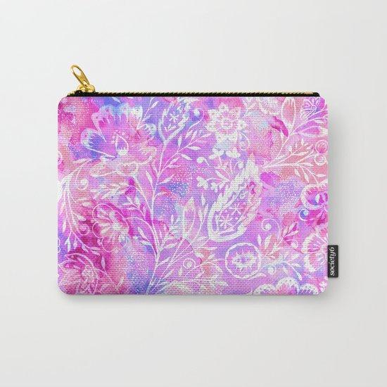 Feminine Folk Floral Carry-All Pouch