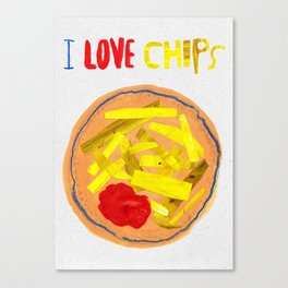 I love chips Canvas Print