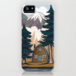 Summer cabin iPhone Case