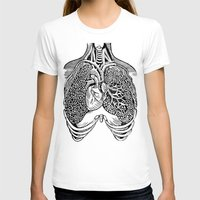 lungs T-shirts featuring Lungs by Orange Blood Gallery