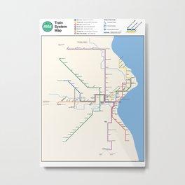 Milwaukee Transit System Map Metal Print