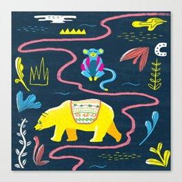 Monkey & Bear Canvas Print