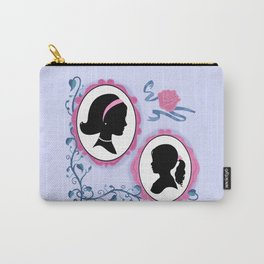 Vintage Look Fairytale Mother And Daughter Silhouette Portraits Carry-All Pouch
