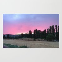 madrid Area & Throw Rugs featuring atardecer Madrid by Maritserg