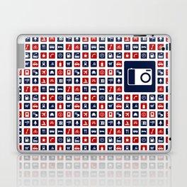 Travel Icons in RWB Laptop & iPad Skin