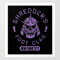 Bad Boy Club: Shredder's Foot Clan Art Print