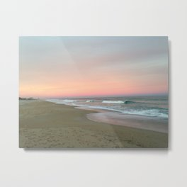 Blue sky fading into pink Metal Print