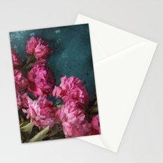 Peony Romance Teal Stationery Cards