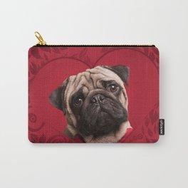 Pug dog Digital Art Carry-All Pouch