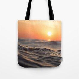 Sunset Wave Tote Bag