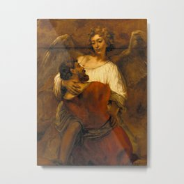 Jacob Wrestling with the Angel Metal Print