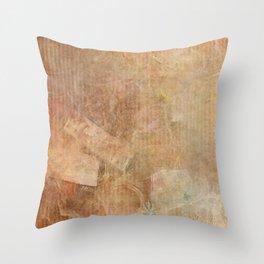 Antique Vintage Textured Background Throw Pillow