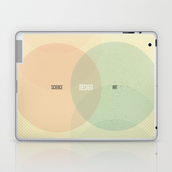 Design is Where Science and Art Break Even Laptop & iPad Skin
