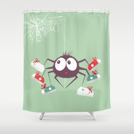 Halloween Spider Shower Curtain