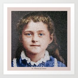 Young St. Therese of Lisieux Art Print