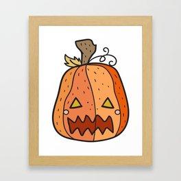 Jack o Lantern Framed Art Print