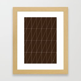 Brown Triangles by Friztin Framed Art Print