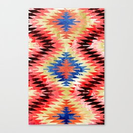 Painted Navajo Suns Canvas Print