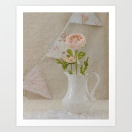 Pitcher and Bunting Art Print