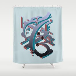 Time Glass Shower Curtain