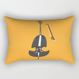 Double Bass Jazz Rectangular Pillow
