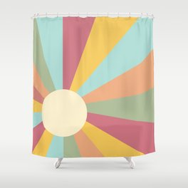 Ray of Sunshine Pastel Shower Curtain