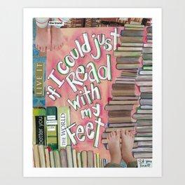 Feet Reading Art Print