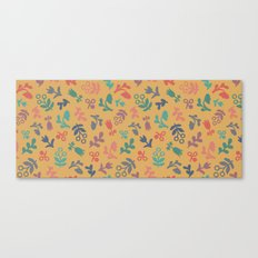 Ditsy Flowers in orange Canvas Print