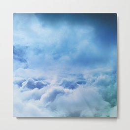 Majestic Clouds Rising Across The Breathtaking Heavens Metal Print
