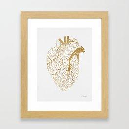 Heart Branches - Gold Framed Art Print