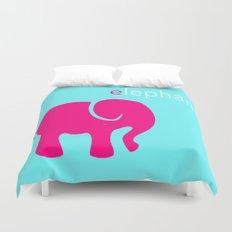 Pink Elephant Duvet Cover
