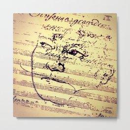 Beethoven Music Metal Print