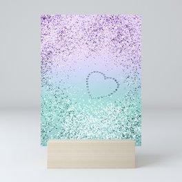 Sparkling MERMAID Girls Glitter Heart #1 #decor #art #society6 Mini Art Print