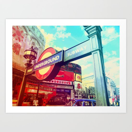 Piccadilly Underground Art Print