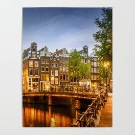 AMSTERDAM Idyllic impression from Singel Poster