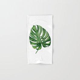 Monstera leaf. Green Leaf. Hand & Bath Towel