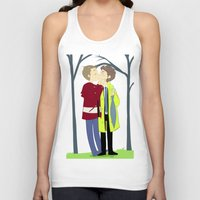 destiel Tank Tops featuring kissukissu by oh, wolves