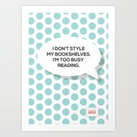 reading Art Prints featuring Reading by ColorisBrave