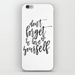 Digital Print, Typography Poster,Awesome Quote, Monochrome Art, Motivational Wall Decor iPhone Skin