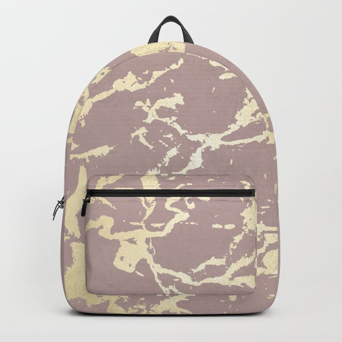 Kintsugi Ceramic Gold on Clay Pink Backpack