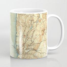 Vintage Map of Tarrytown NY & The Hudson River Coffee Mug