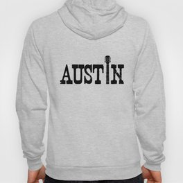 Austin Texas Graphic with Guitar Hoody