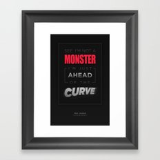 Ahead of the Curve Framed Art Print